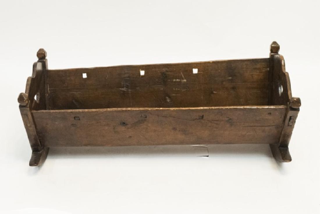 Antique Swiss German C 1821 Carved Cradle - 2