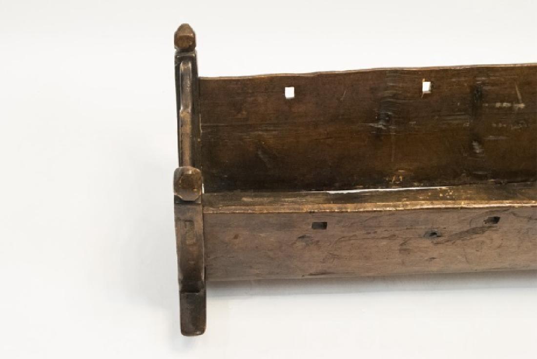 Antique Swiss German C 1821 Carved Cradle - 3
