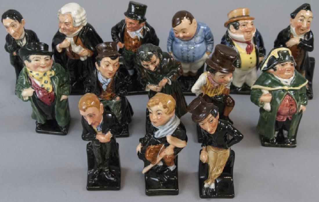 Set Of 14 Royal Doulton Porcelain Dickens Figures
