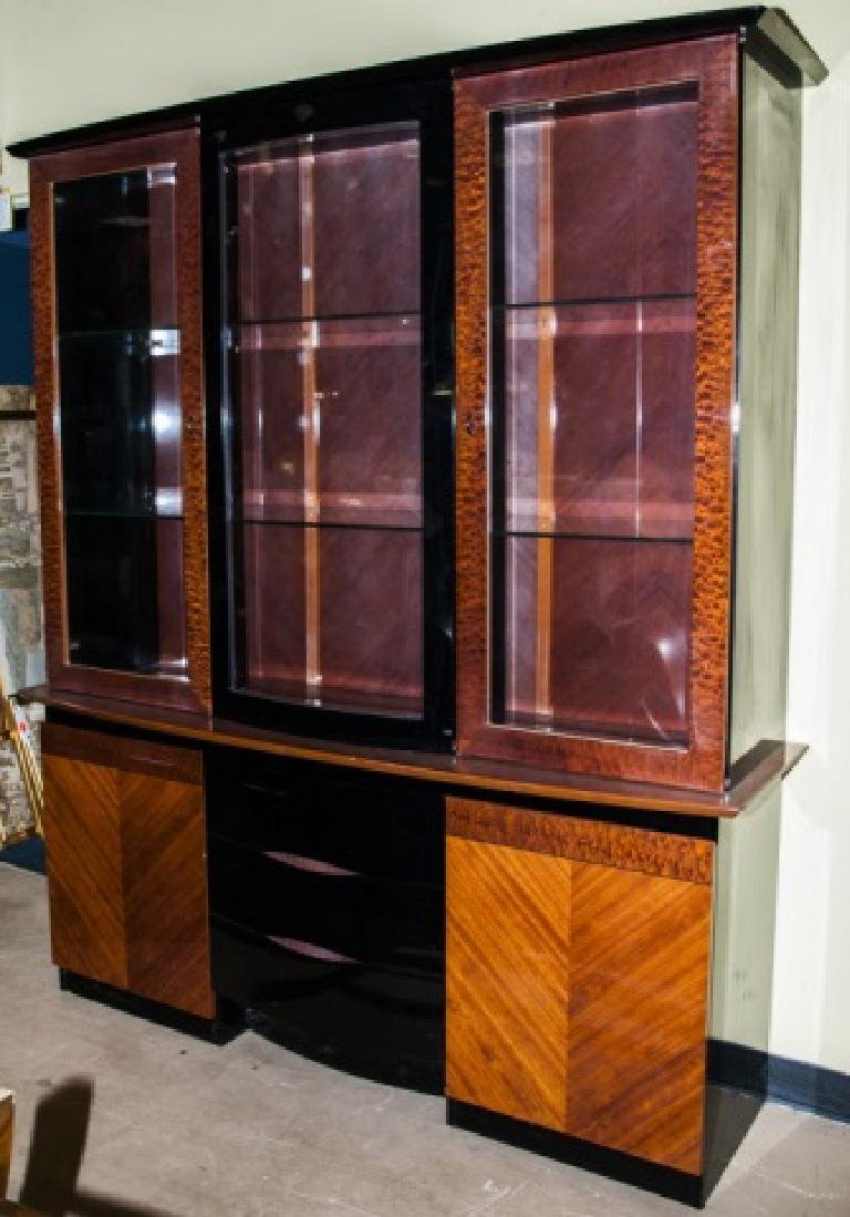 Contemporary Art Deco Style Lacquer China Cabinet