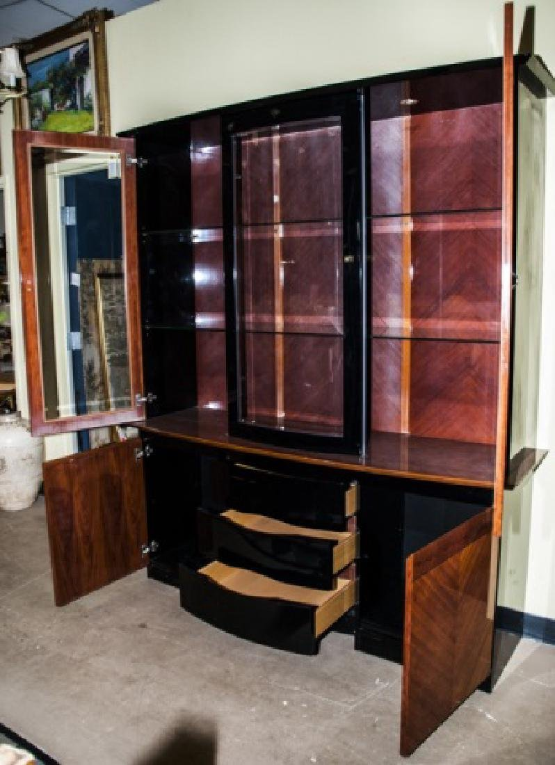 Contemporary Art Deco Style Lacquer China Cabinet - 2