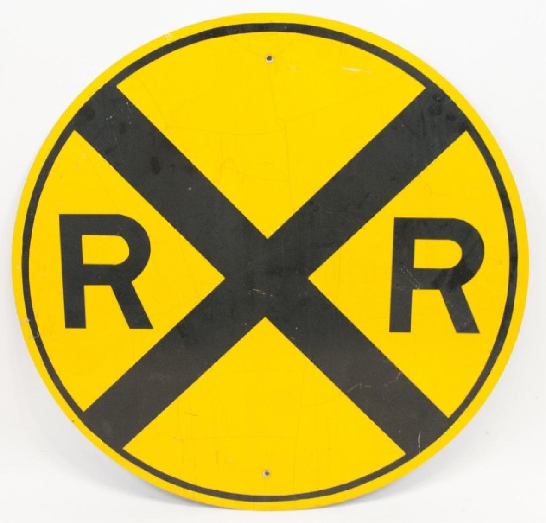 Large Vintage Rail Road Crossing Traffic Sign