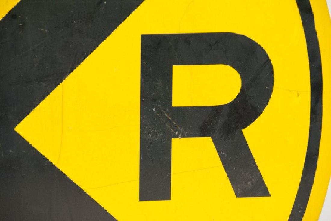 Large Vintage Rail Road Crossing Traffic Sign - 3