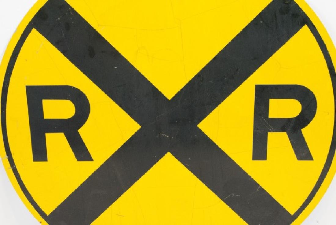 Large Vintage Rail Road Crossing Traffic Sign - 4