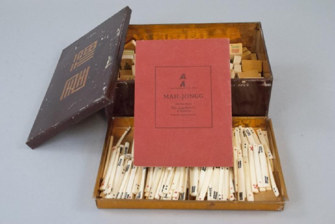 Vintage Mahjong Game Set in Tin Box