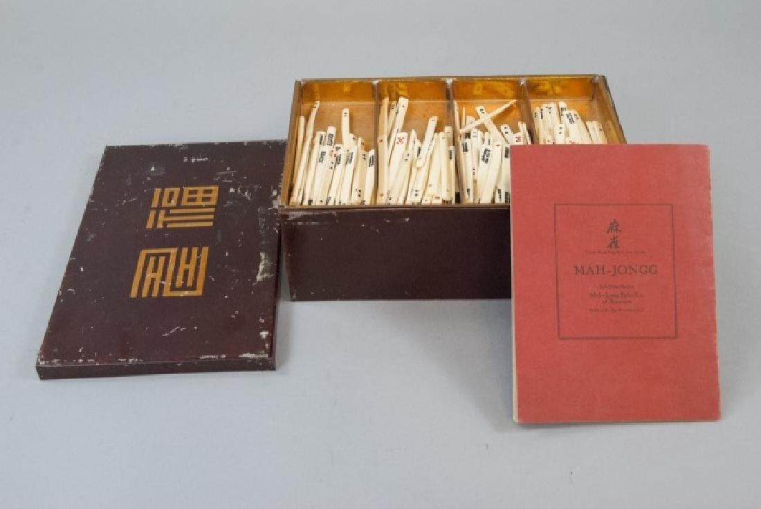 Vintage Mahjong Game Set in Tin Box - 7
