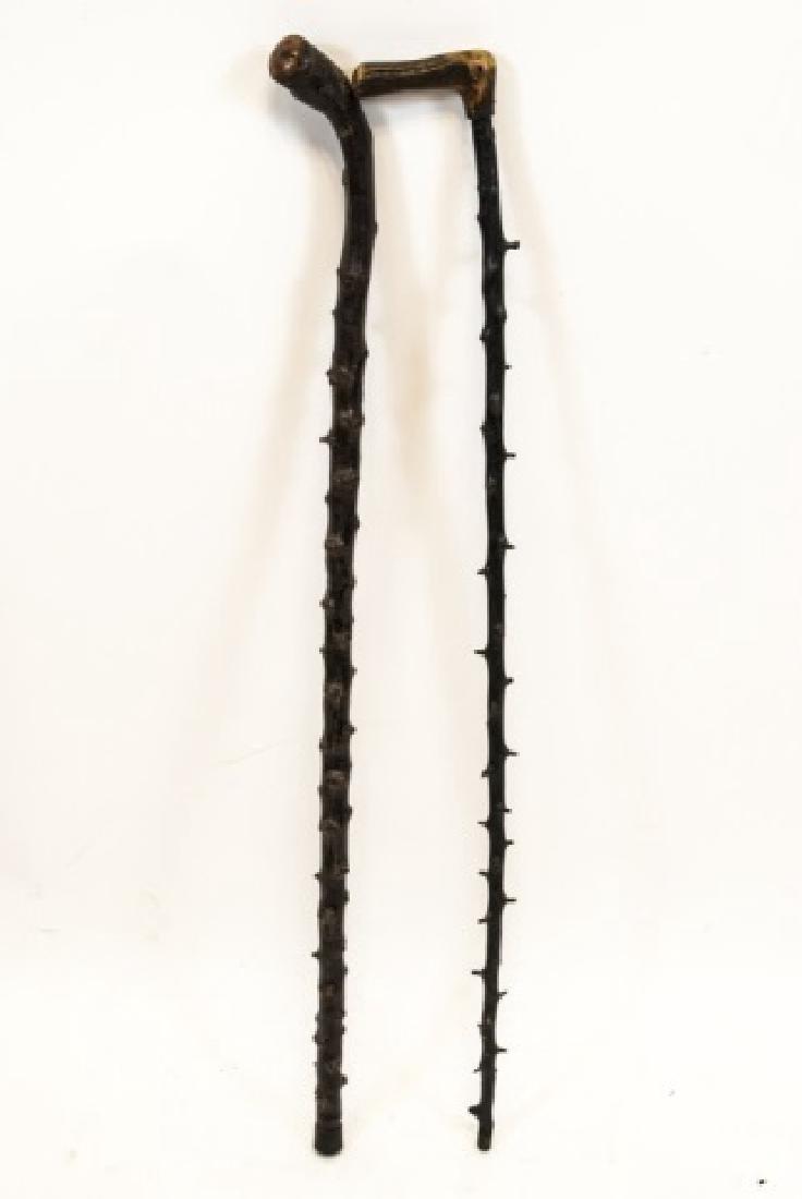 Two Blackthorn Shillelagh Canes / Walking Sticks