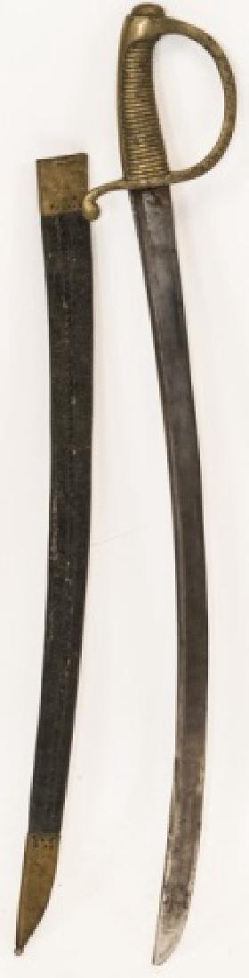 Antique 19th C Spanish Sword in Leather Sheath