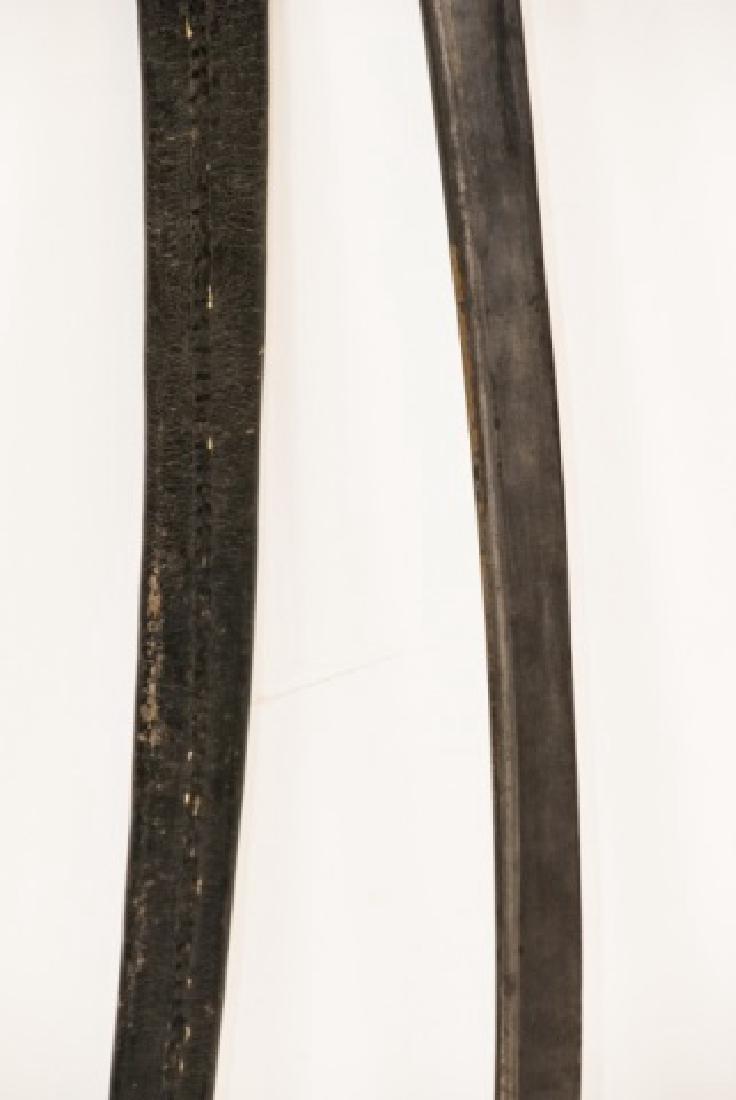 Antique 19th C Spanish Sword in Leather Sheath - 5