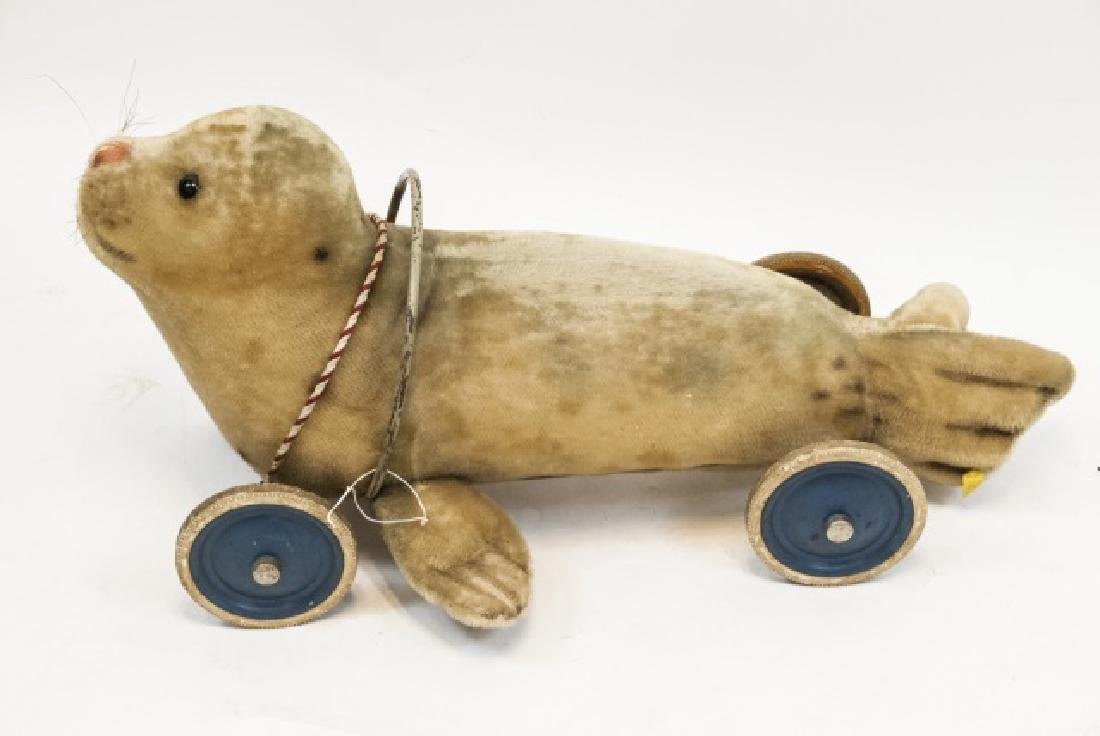 Antique German Steiff Seal Pull Toy / Ride On Toy - 2