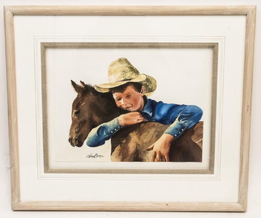 Nelson Boren Framed Watercolor Painting