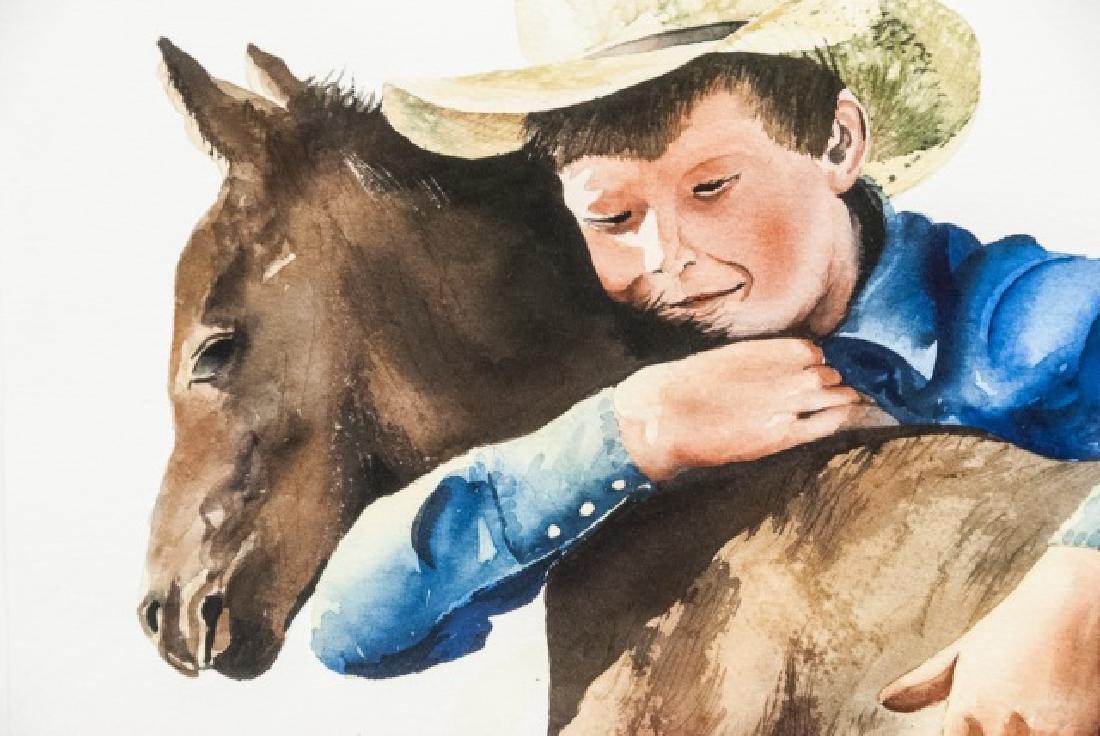 Nelson Boren Framed Watercolor Painting - 2