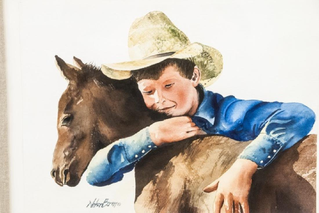 Nelson Boren Framed Watercolor Painting - 4