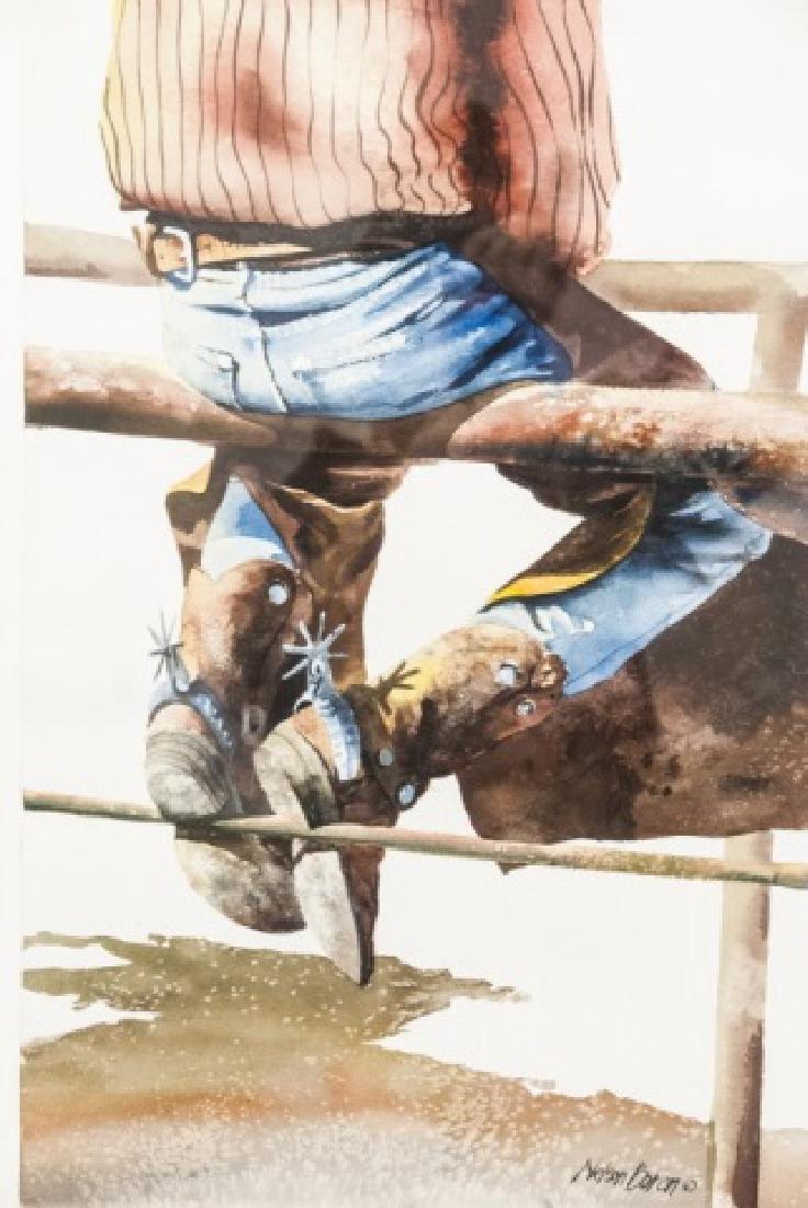 Nelson Boren Framed Watercolor Painting - 5