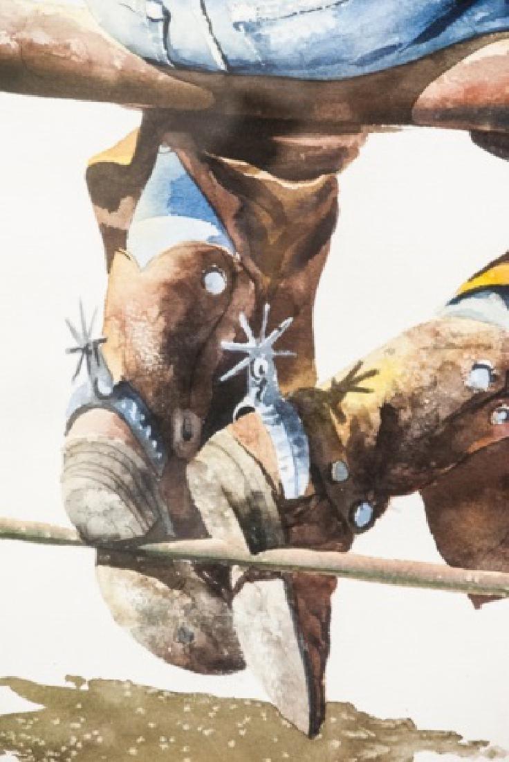 Nelson Boren Framed Watercolor Painting - 6