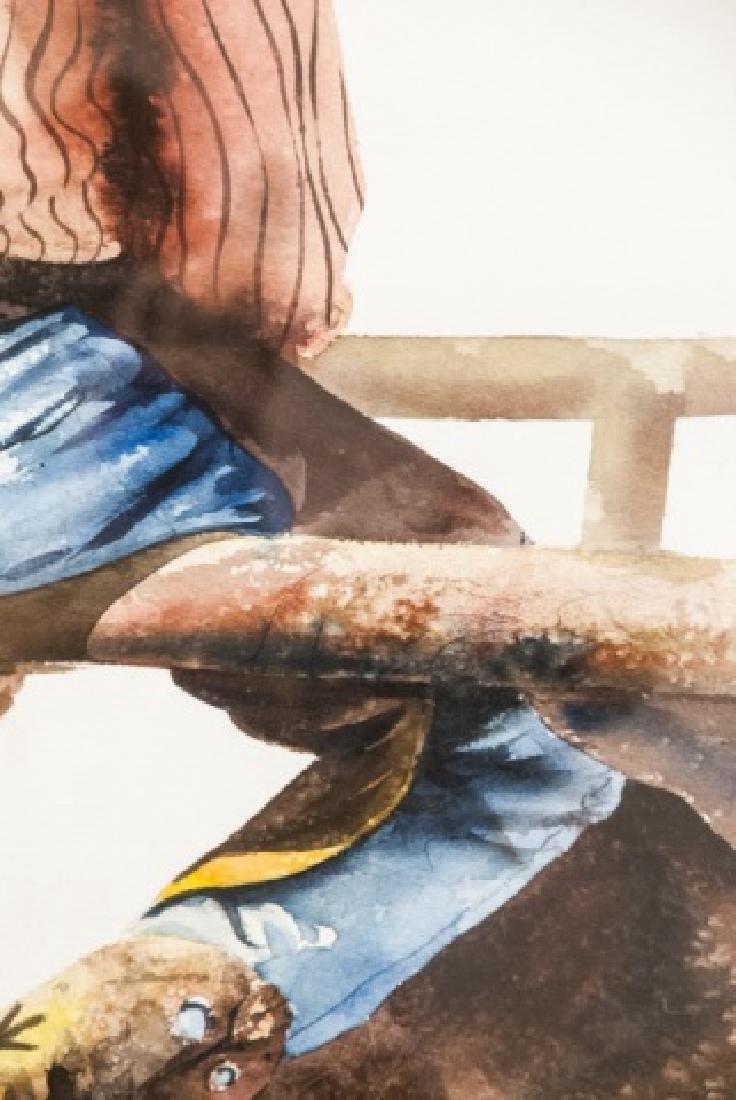 Nelson Boren Framed Watercolor Painting - 8
