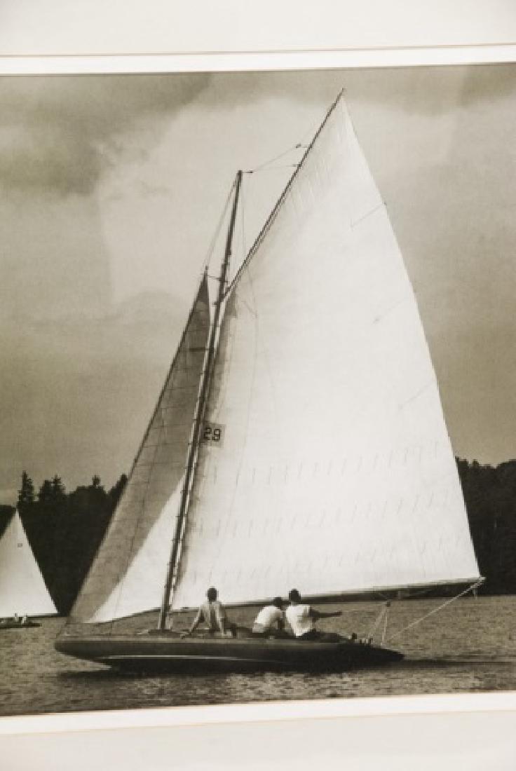 Three Framed Black & White Boat Photographs - 3