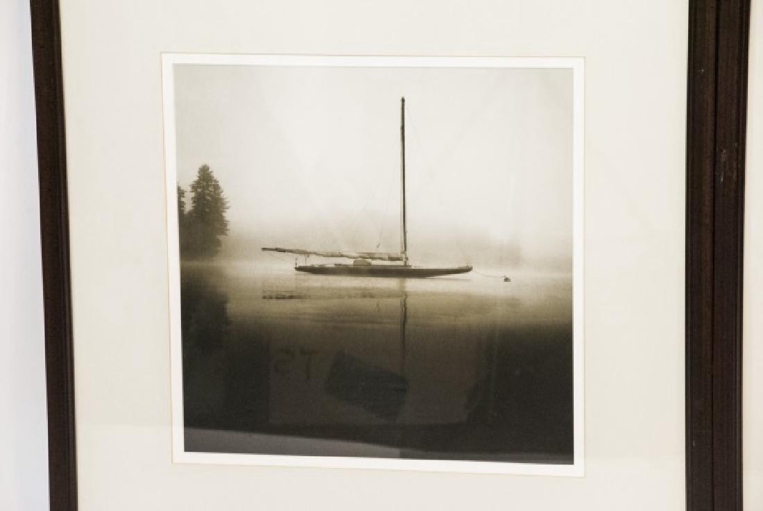 Three Framed Black & White Boat Photographs - 5