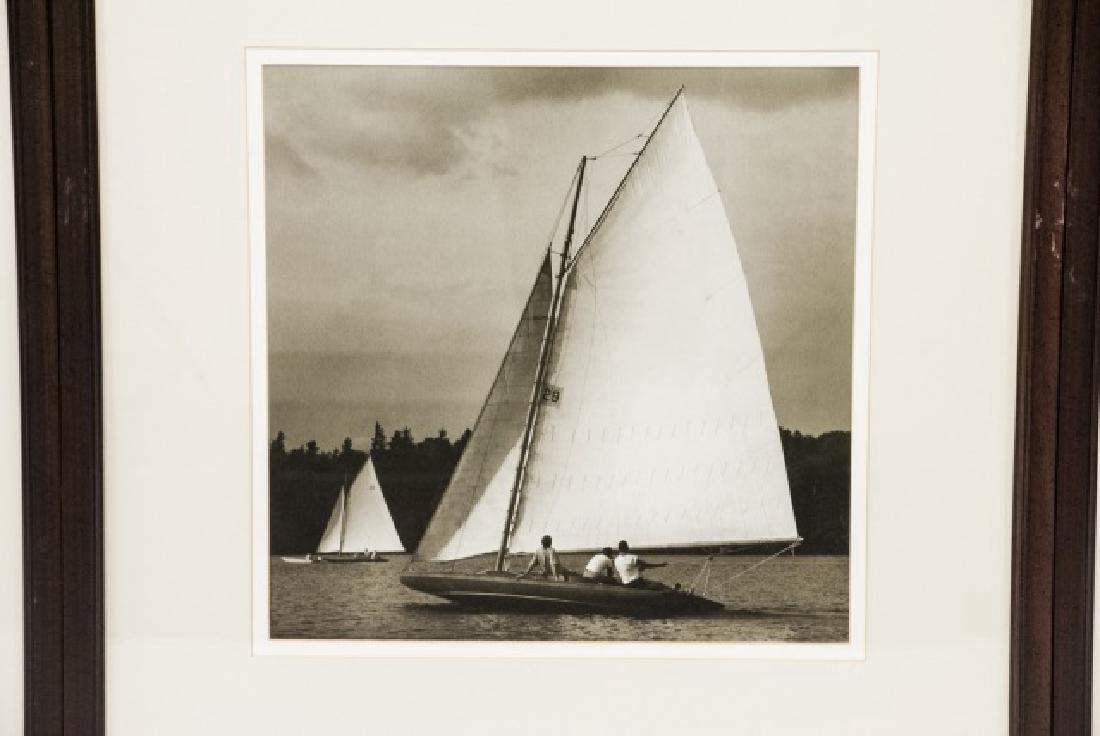 Three Framed Black & White Boat Photographs - 6