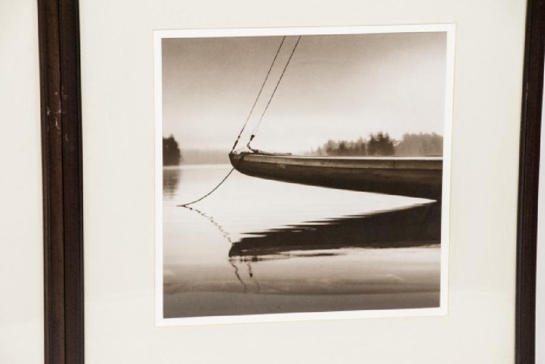 Three Framed Black & White Boat Photographs - 7