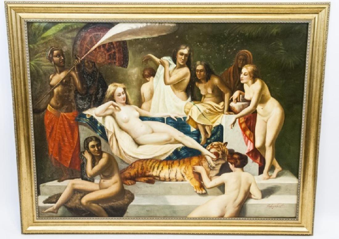 Contemporary Roman Style Nude Acrylic Painting