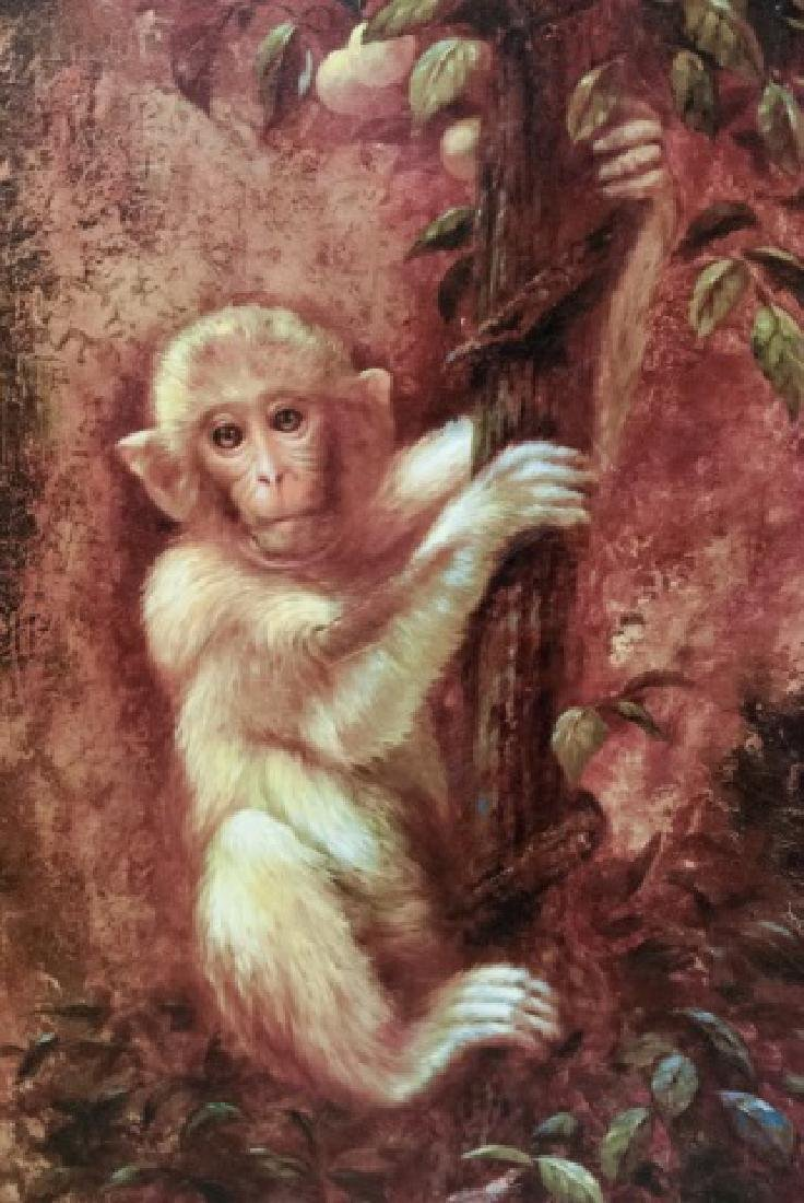 Contemporary Oil On Canvas Monkey Painting - 2