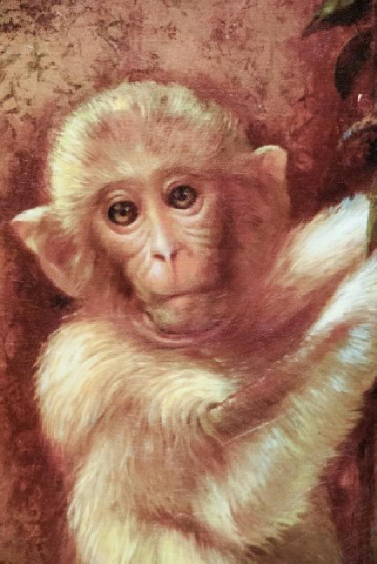 Contemporary Oil On Canvas Monkey Painting - 3