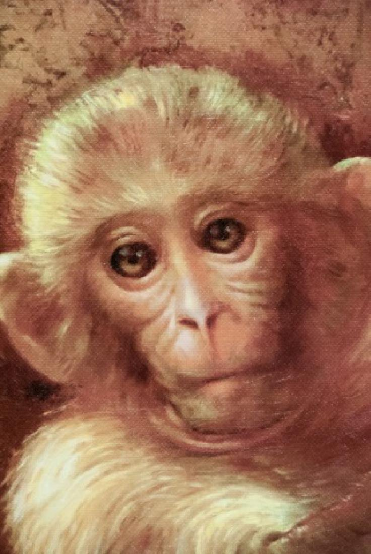 Contemporary Oil On Canvas Monkey Painting - 4