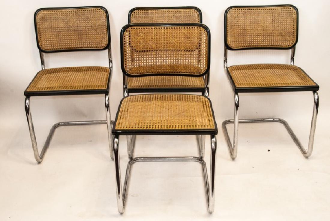 Four Mid Century Modern Chairs W/ Metal Frames