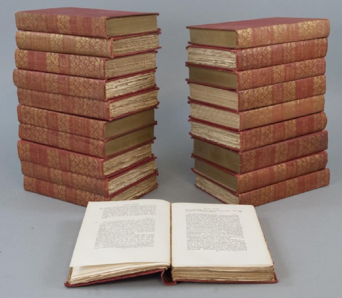 Antique 20 Book Set Of Robert Louis Stevenson Work