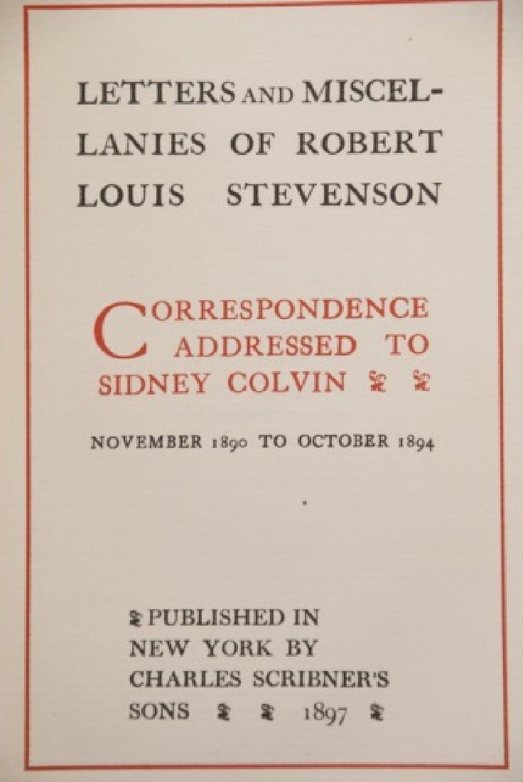 Antique 20 Book Set Of Robert Louis Stevenson Work - 3