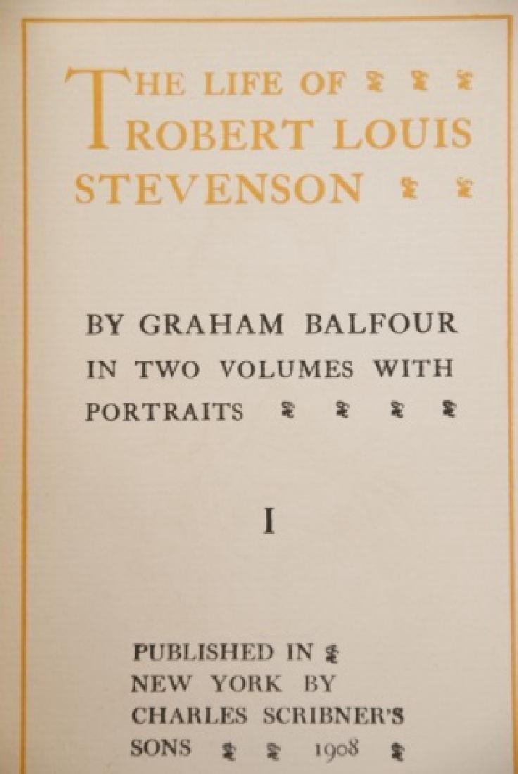 Antique 20 Book Set Of Robert Louis Stevenson Work - 5