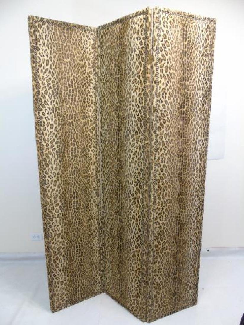 Custom Ralph Lauren Leopard Fabric Screen - 2