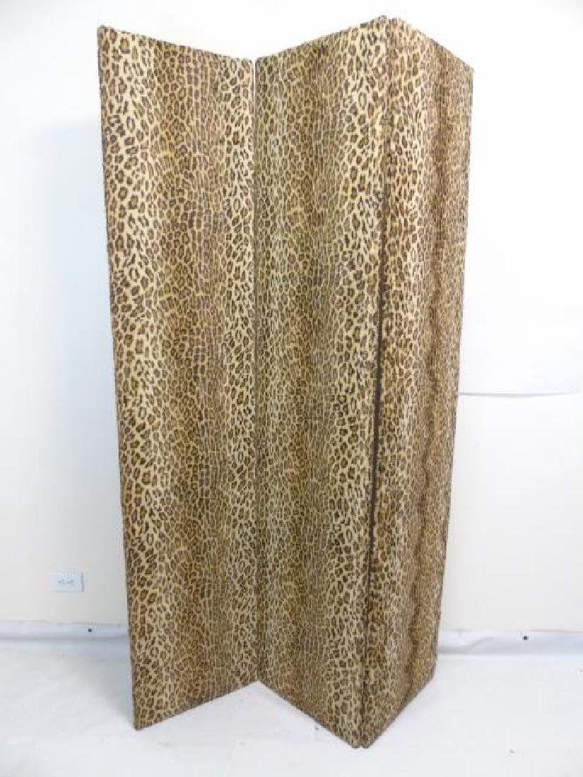 Custom Ralph Lauren Leopard Fabric Screen - 4