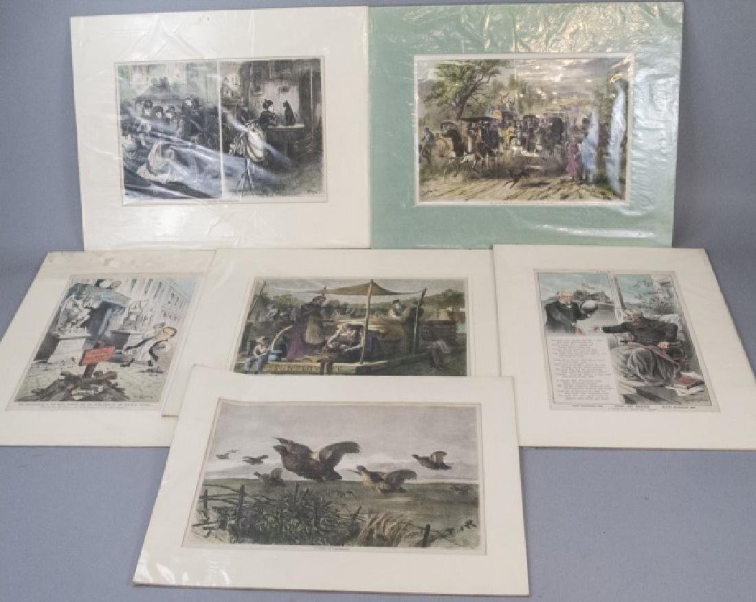Lot Of 19th Century Political Cartoons and Prints