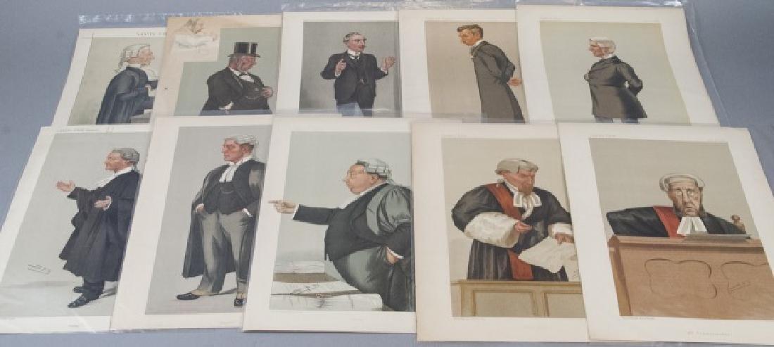 19th Century Vanity Fair 10 SPY Lithography Prints