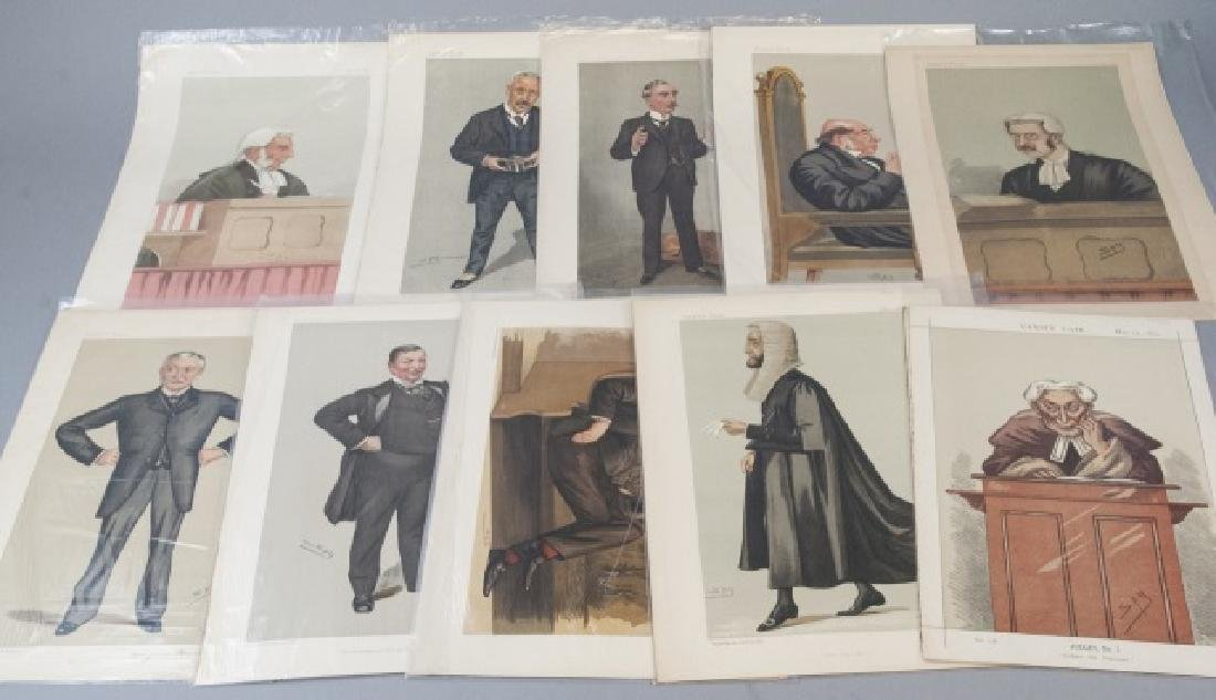 19th Century Vanity Fair 10 SPY Lithography Prints