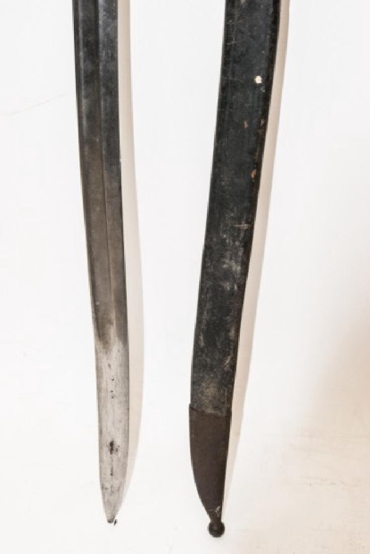 Antique Short Sword W/ Engraved Handle & Sheathe - 3