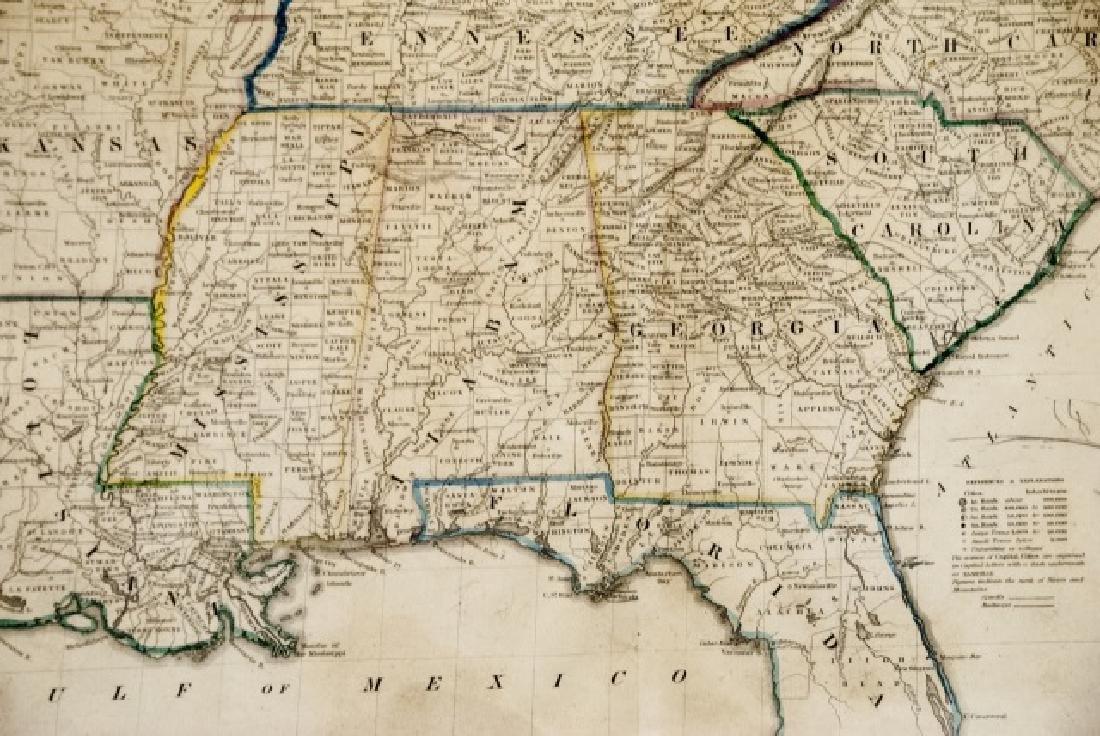 4 19th Century Maps The World, North/South U.S. - 2