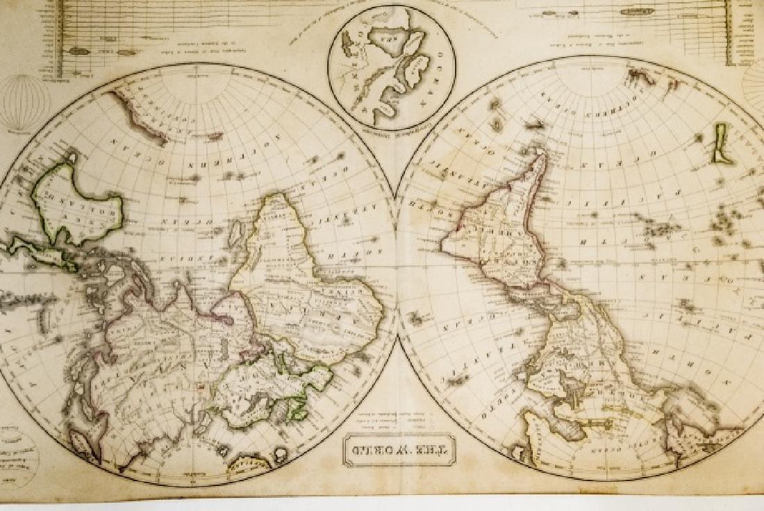 4 19th Century Maps The World, North/South U.S. - 3