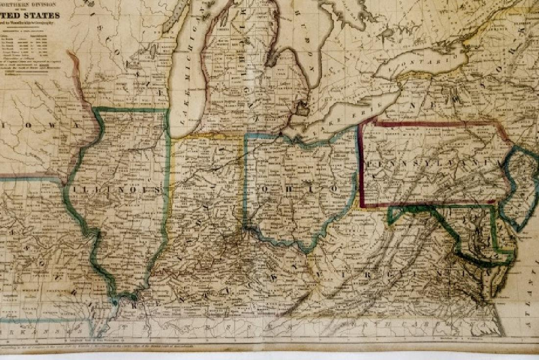 4 19th Century Maps The World, North/South U.S. - 5