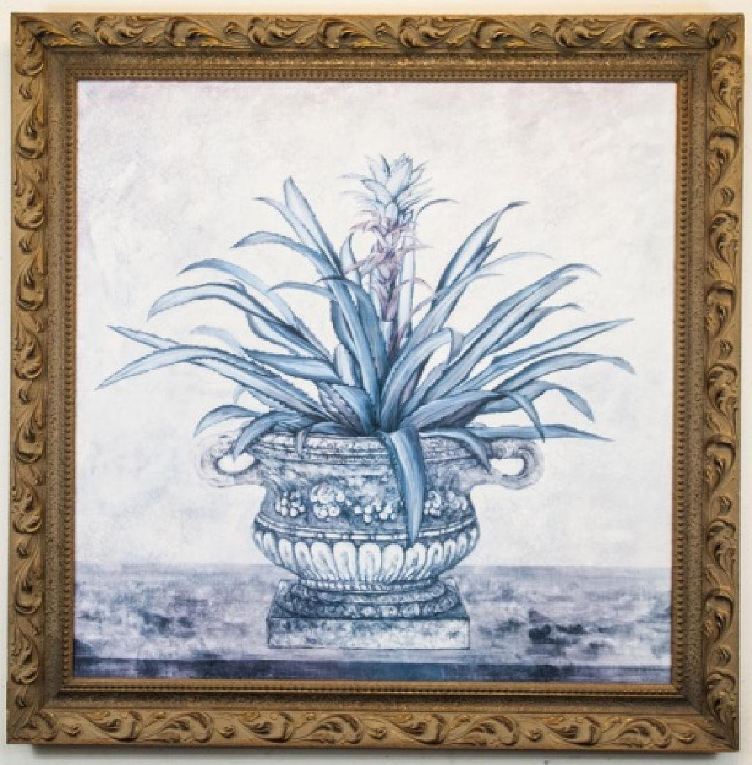 Large Framed Print of Aloe Plant in Classical Urn