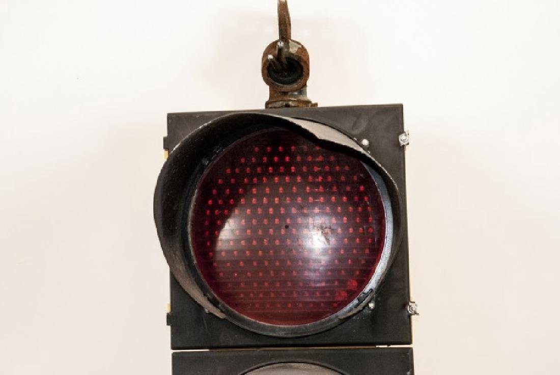 Vintage Authentic Metal Traffic Light - 3