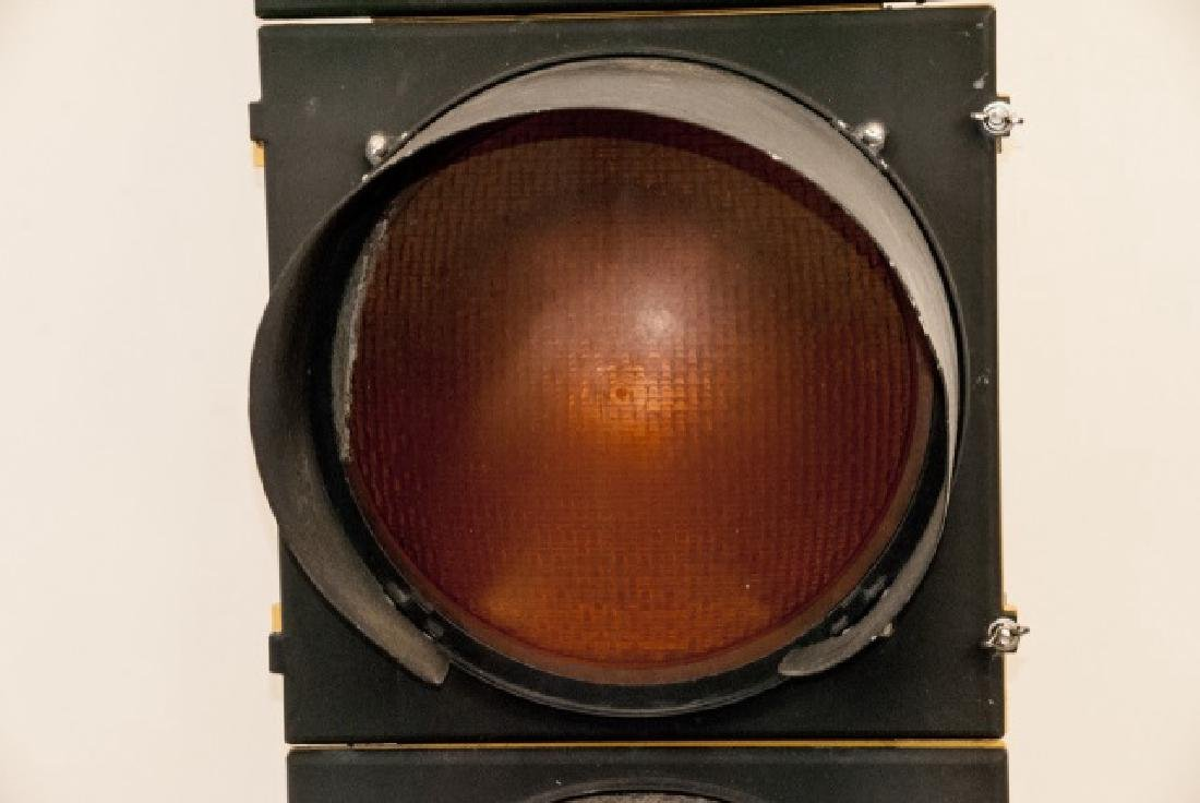 Vintage Authentic Metal Traffic Light - 4