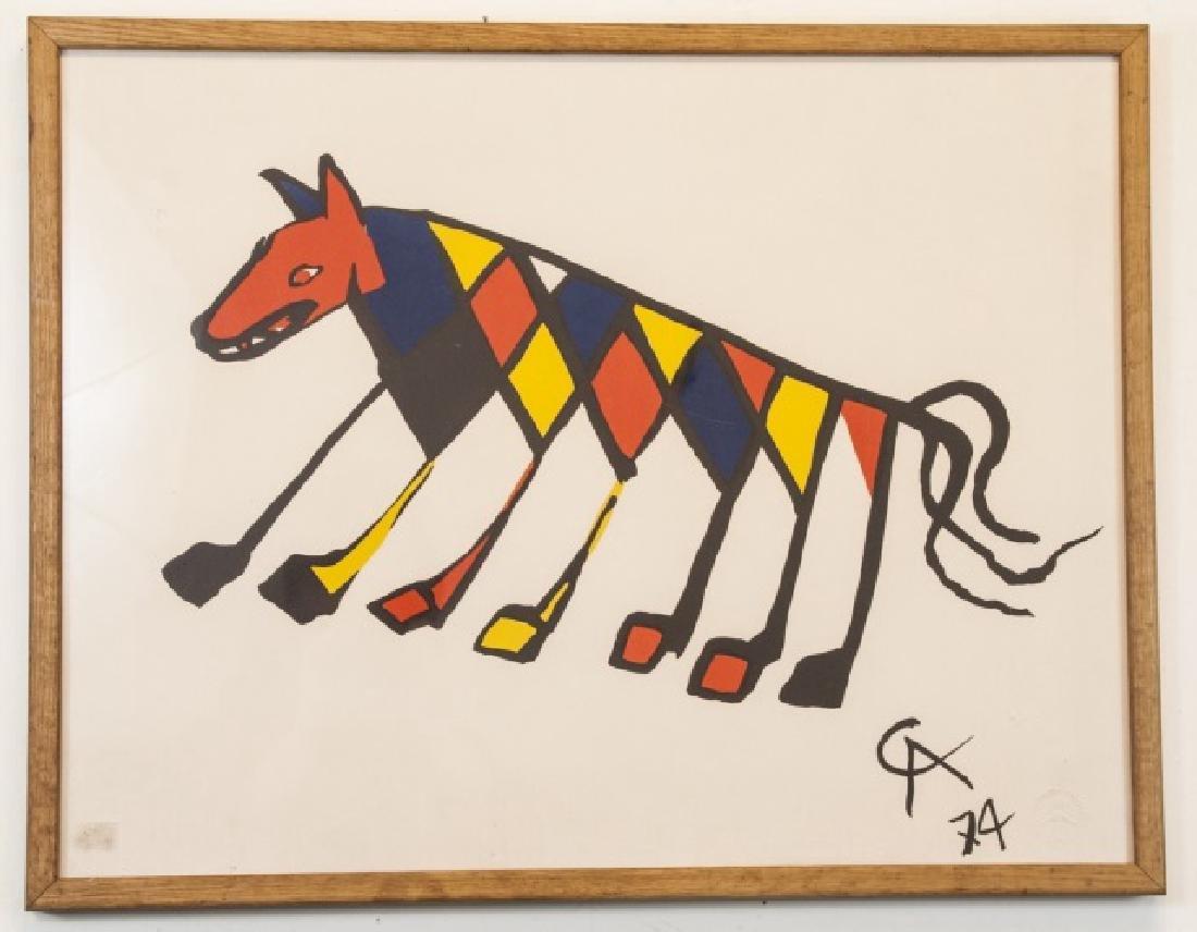 Alexander Calder Framed Lithography Print
