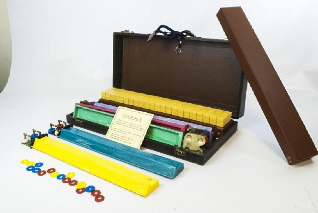 Vintage Mahjong Game Set in Fitted Case - 4