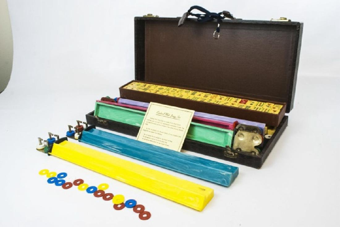 Vintage Mahjong Game Set in Fitted Case - 7