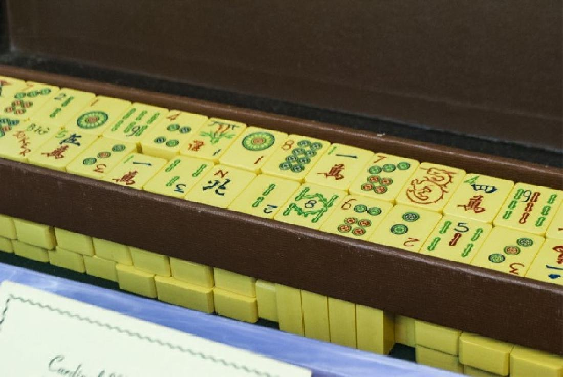 Vintage Mahjong Game Set in Fitted Case - 9