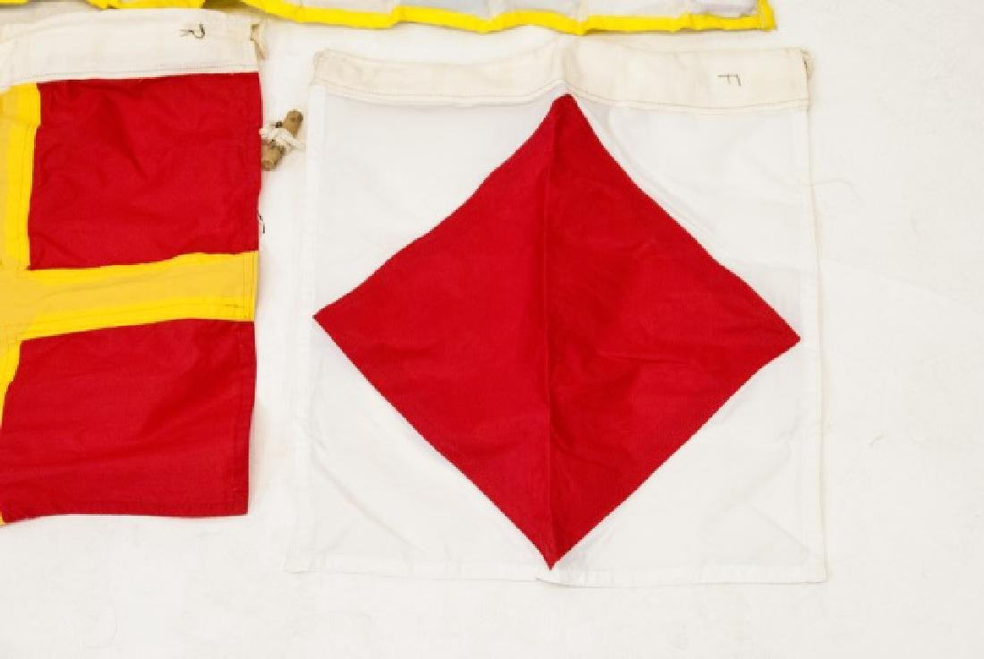 Vintage Nautical Boat Flag Set - 6