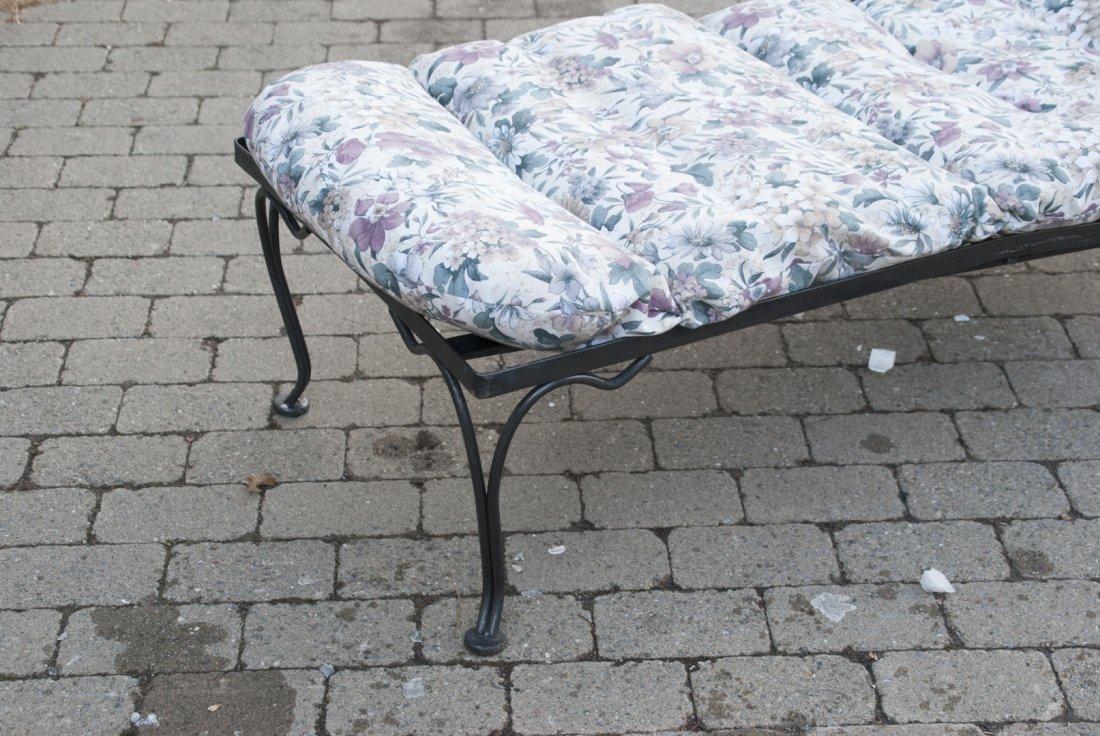 Black Steel Chaise Lounge Chair W/ Cushions - 2